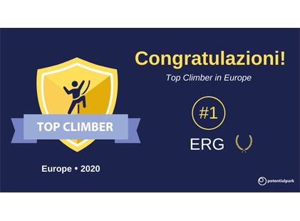 Online talent communication: ERG si conferma tra i leader italiani ed è best climber nel ranking europeo di Potentialpark