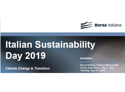 ITALIAN SUSTAINABILITY DAY 2019