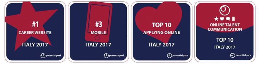ERG al primo posto per il Career Website nell'analisi On Line Talent Communication 2017 di Potential Park!