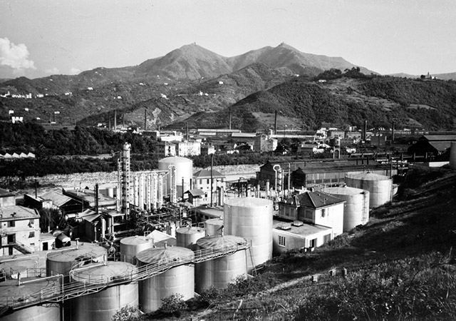 Production at the Genoa San Quirico Refinery begins.