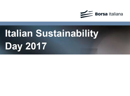 Italian Sustainability Day 2017