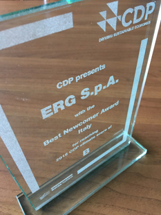 CDP 2016: ERG Best Newcomer Italy