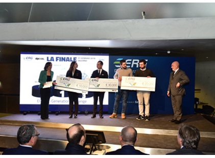 ERG Re-Generation Challenge, awards for the best three start ups