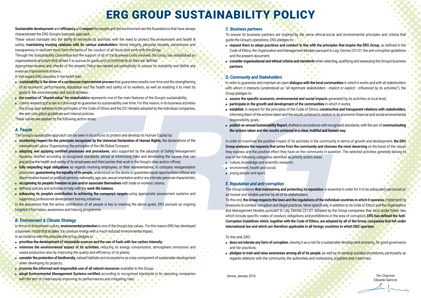 La Sustainability Policy del Gruppo ERG